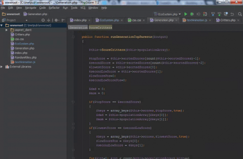Screenshot of Cloud IDE