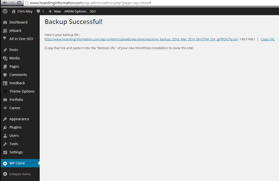 backupsuccess