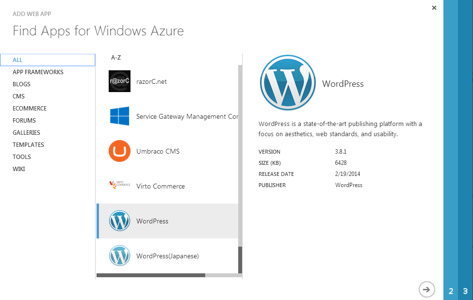 image illustrating flow of steps for Migrating Existing WordPress Site to Azure Sites
