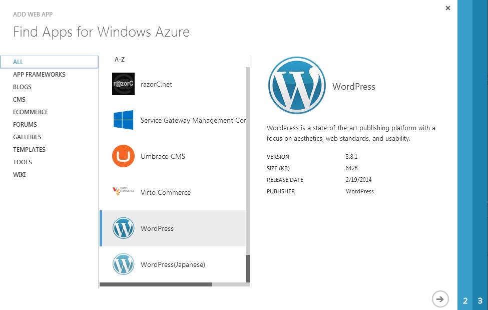image illustrating flow of steps for Migrating Existing WordPress Site to Azure Sites