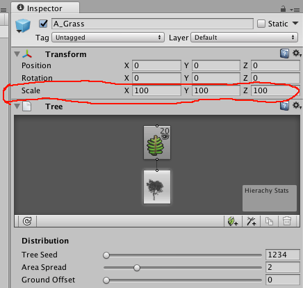 how to change the scale of an object in unity