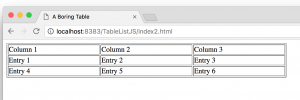 A Scrollable Selectable Html Table With Javascript And Css