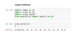 simulated Matlab command line in Jupyter Notebook