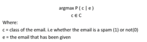 mathematical representation class of email